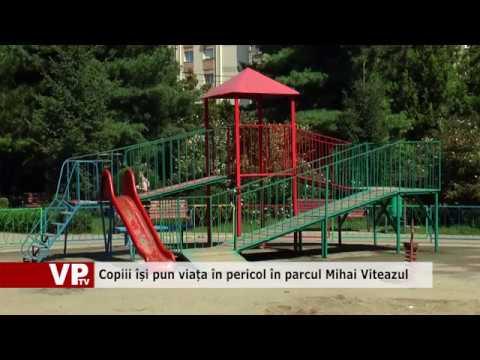 Copiii își pun viața în pericol în parcul Mihai Viteazul