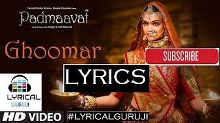 """""""Padmaavat LYRICS"""" Ghoomar: Deepika   - YouTube"""