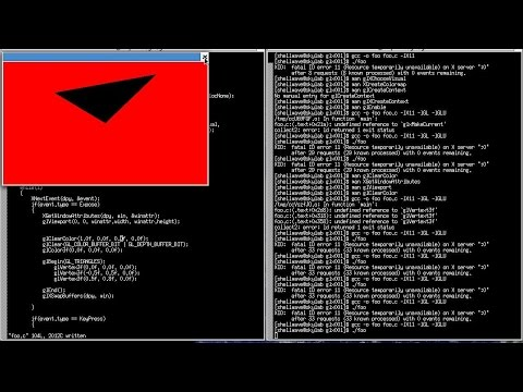 3D Graphics and Animation Programming Tutorial in C/Linux #01 – Creating Triangle