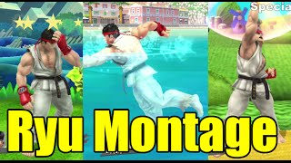 Ryu's Various Animations Montage & MUCH MORE (Super Smash Bros Wii U)