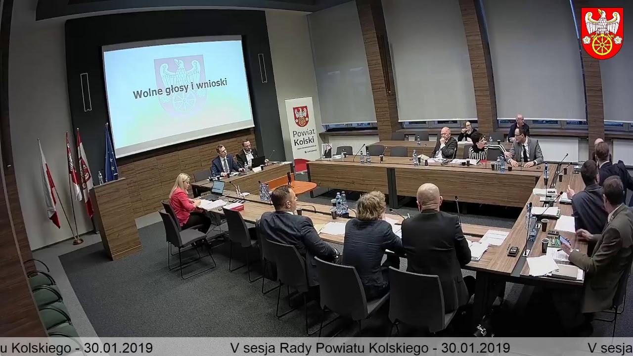 Zdjęcie do V Sesja Rady Powiatu Kolskiego cz.2