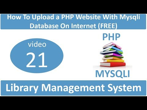 How to upload a PHP website with Mysqli Database on internet