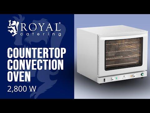 Countertop Convection Oven - 2,800 W - steam function - incl. 3 racks + baking sheet