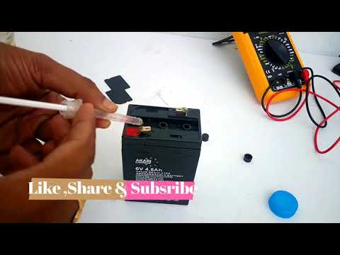 How to Repair 6 Volts, 4.5Ah Lead Acid Battery At Home | How to Change Distilled Water for Battery