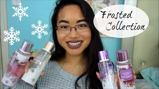 "NEW Victoria's Secret ""Frosted"" Body Care Fragrance Haul/Review 
