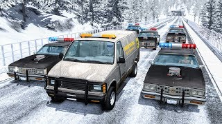 Crazy Police Chases #25 - BeamNG Drive Crashes
