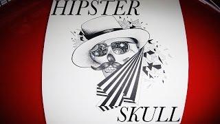 Hipster Skull Drawing!