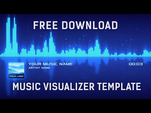 Free Music Visualization Templates: Audio Spectrum Music