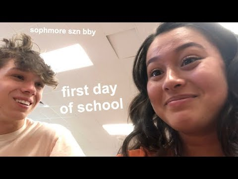 FIRST DAY OF SCHOOL GRWM + VLOG (sophomore edition)