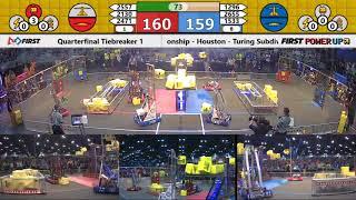 Quarterfinal Tiebreaker 1 - 2018 FIRST Championship - Houston - Turing Subdivision