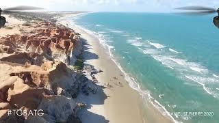 [3 MIN BREAK] FPV Drone Flying Over Spectacular Beach - Relaxing Music