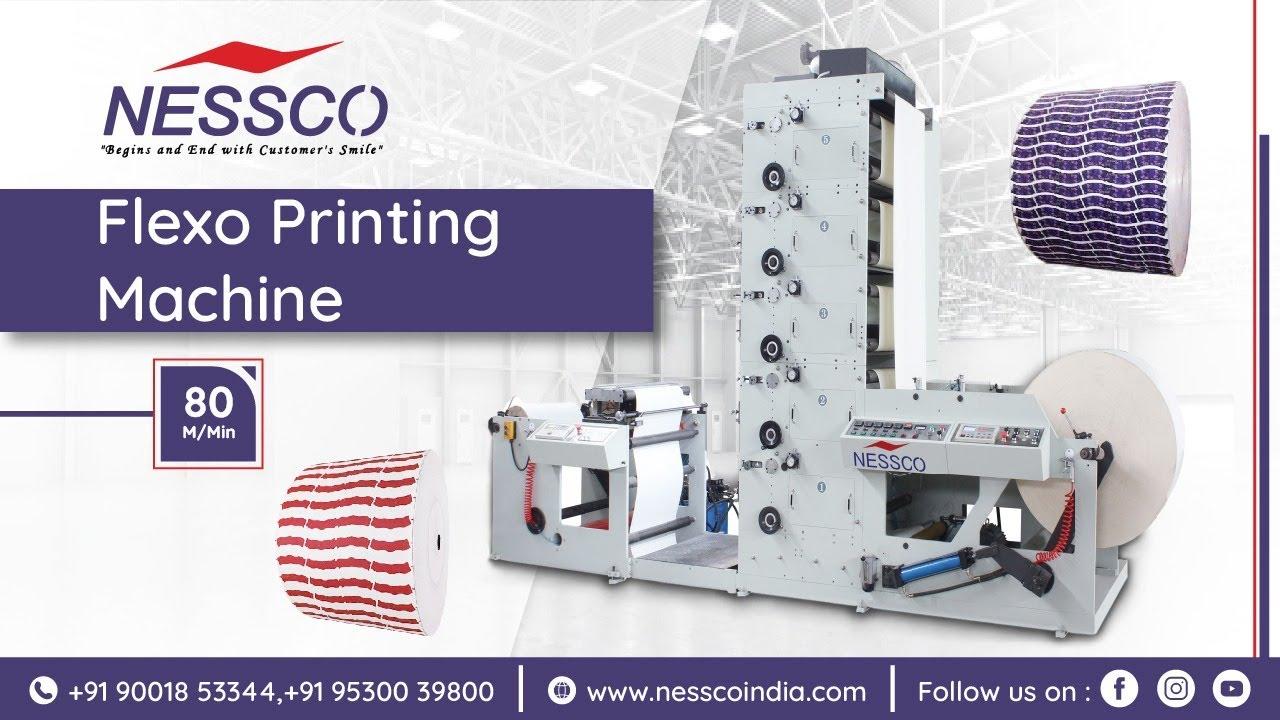 High-speed flexo printing machine   Nessco machinery