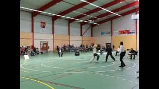preview picture of video 'Championnat 2014 - Canne de Combat - Sélénia CM vs Aurélie S 1/4'