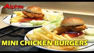 MINI CHICKEN BURGERS - Mini Burgers De Pollo -  鸡肉汉堡