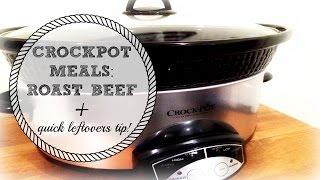 EASY ROAST BEEF + HACK FOR LEFTOVERS | CROCKPOT MEALS