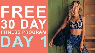 Day 1 | FREE 30 Day Fitness Challenge | HIIT Total Body