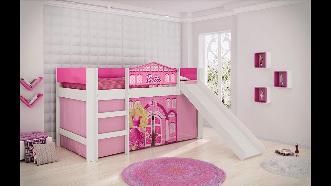 Cama Barbie Play com Escorregador - Pura Magia