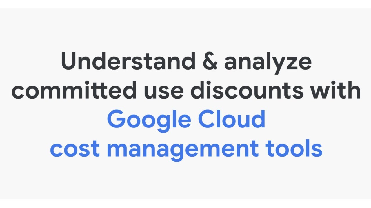 See how you can visualize and better understand the effectiveness of the commitments that you've purchased with Google Cloud cost management tools.