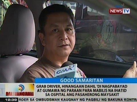 BT: Grab driver, hinangaan dahil sa kabutihang ginawa sa pasaherong kailangang dalhin sa ospital