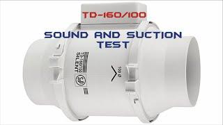 TD-160/100 Susturuculu Fan Tanıtımı - TD-160/100 Fan Testing