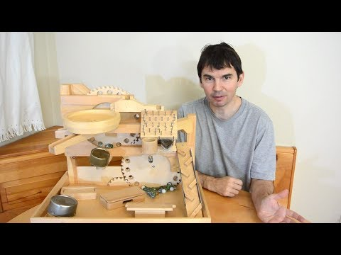 Building a marble machine - Satisfying to watch this woodwork [20:00]