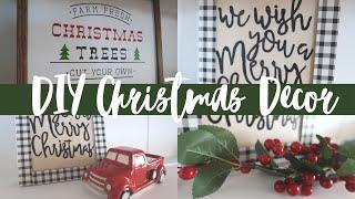 FARMHOUSE CHRISTMAS DECOR DIYS 2019 | 2 EASY CHRISTMAS SIGNS | DOLLAR TREE AND ARTEZA PRODUCTS