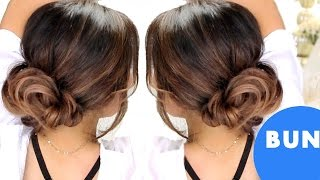 ★ 3-MINUTE ELEGANT BUN Hairstyles 💙  EASY UPDO HAIRSTYLES