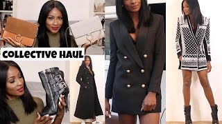 COLLECTIVE WINTER HAUL/TRY ON- BALMAIN X H&M, GIUSEPPE ZANOTTI, CHLOE INSPIRED, ASOS & more!!