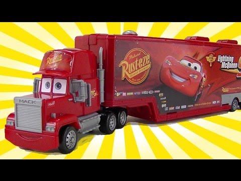 mattel disney cars mack truck koffer 10 cars. Black Bedroom Furniture Sets. Home Design Ideas
