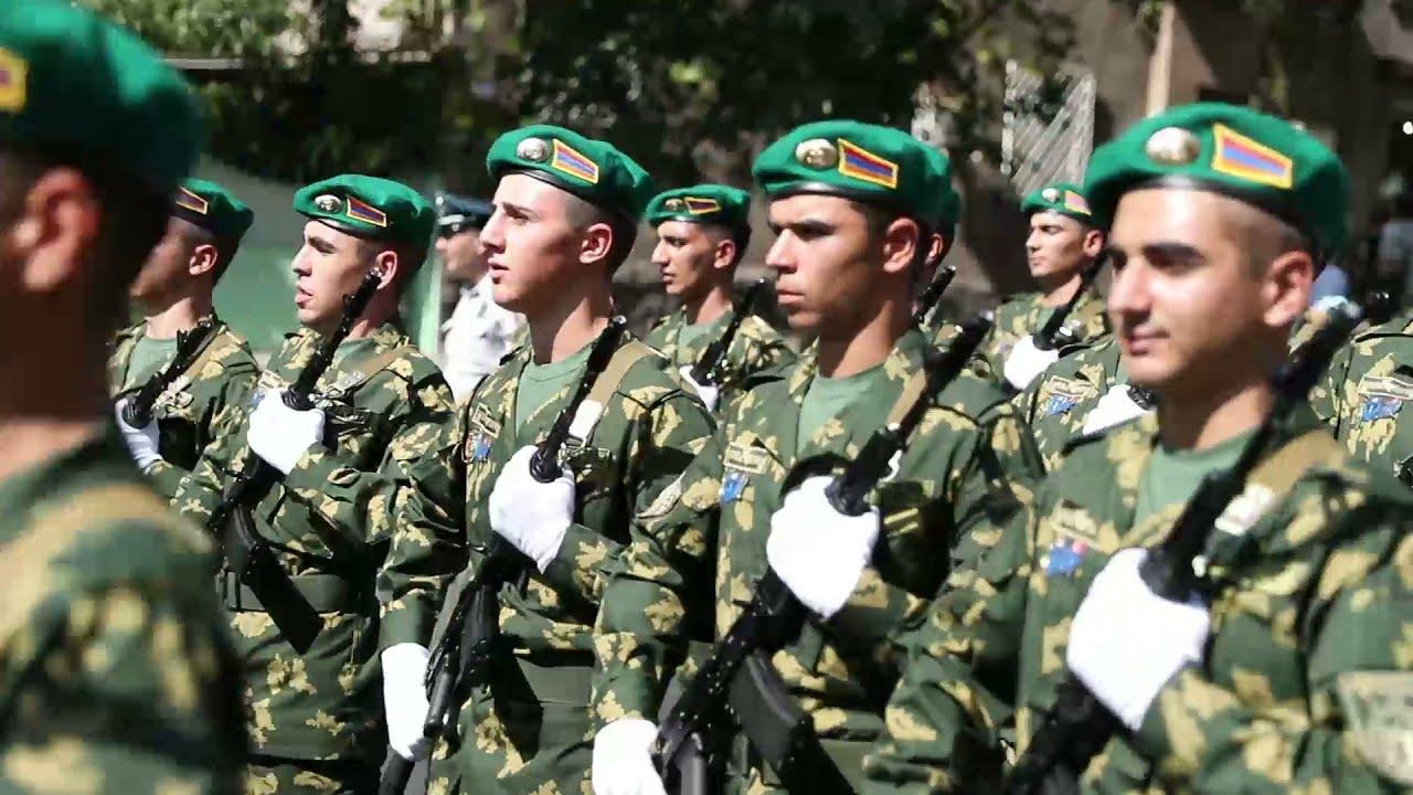 ՀՀ ԱԱԾ սահմանապահ զորքերի զինծառայողները շարային քայլերթով նշեցին Անկախության տոնը