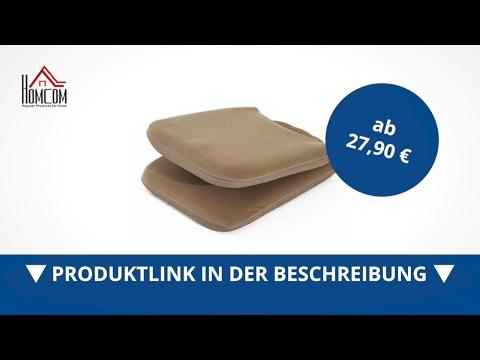Homcom Sitzkissen Sitzsack Bodenkissen mit Lehne klappbar dunkelbraun - direkt kaufen!