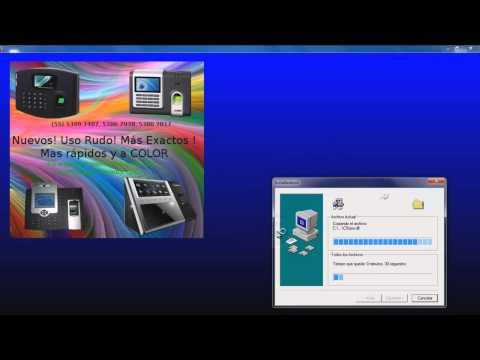Como instalar el programa de ZK Software ZK control de asistencia Attendance Management