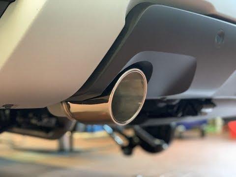 Dacia Duster II Painit Auspuffblende 100mm schräg eingerollt 60mm Anschluss