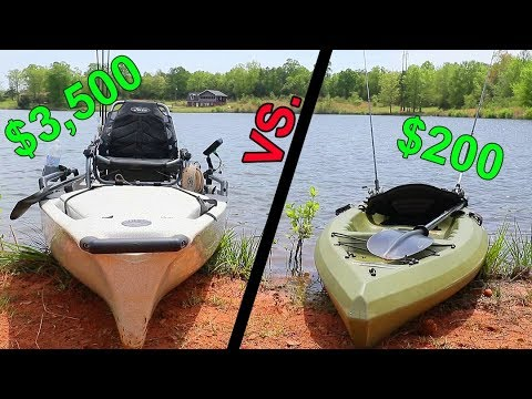 Cheap Kayak VS. Expensive Kayak -- Fishing CHALLENGE
