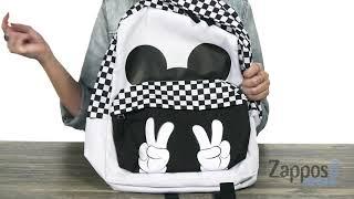 e585b240e3 Vans Mickey s 90th Checkerboard Mickey Realm Backpack SKU  9188277