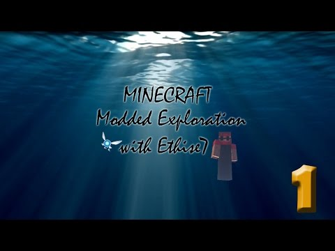 Minecraft, Exploring in modded Survival, part 1: Mountain home