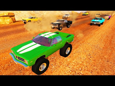 BeamNG DRIVE - High speed Suspension test on Desert Highway