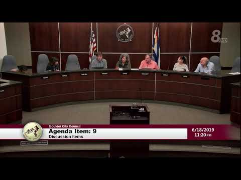 City of Boulder City Council Meeting 06-18-19