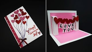 DIY Valentine Card | Handmade I Love You Pop Up Card For Valentines Day | Anniversary Card