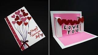DIY Valentine Card | Handmade I Love You Pop Up Card For Valentine's Day | Anniversary Card