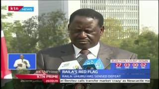 NASA leader Raila Odinga hints at President Uhuru citing defeat