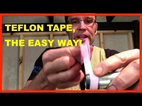 How to Use TEFLON TAPE. How to Apply PTFE TAPE. TO EASY!