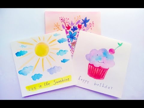 Diy greeting cards how to make fathers day card ideas tutorial diy easy watercolor card ideas greeting cards making at home tutorial m4hsunfo