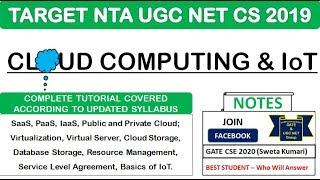 Cloud Computing & IoT in 60 Minutes   Complete Tutorial   15 MCQs   NTA UGC NET CS 2019