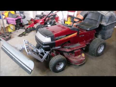 Schneeschild für Rasentraktor selber bauen