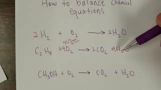 How To Balance Chemical Reactions