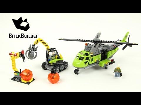 Vidéo LEGO City 60123 : L'hélicoptère d'approvisionnement du volcan