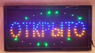 """Светодиодная LED вывеска """"Открыто"""" 48 Х 25 см от компании ТехМагнит - видео"""