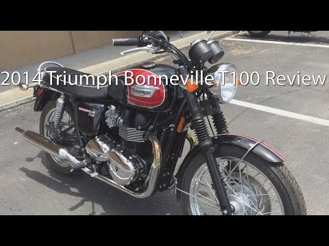 2014 Triumph Bonneville T100 Motorcycle Review