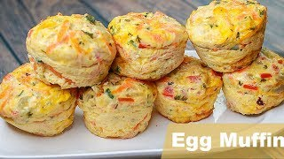 breakfast frittata in muffin cups